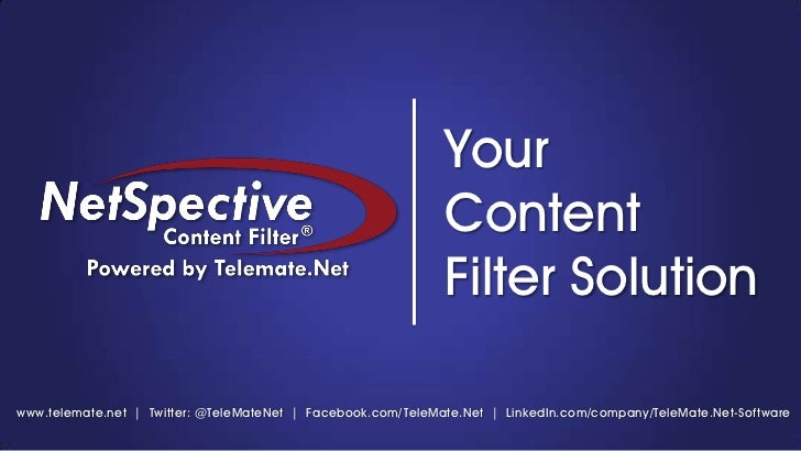 NetSpective Internet Content Filter | Powered by TeleMate.Net