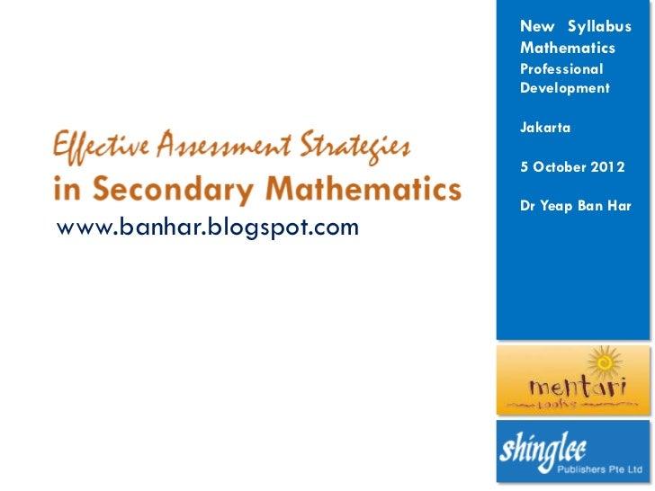 New Syllabus                          Mathematics                          Professional                          Developme...
