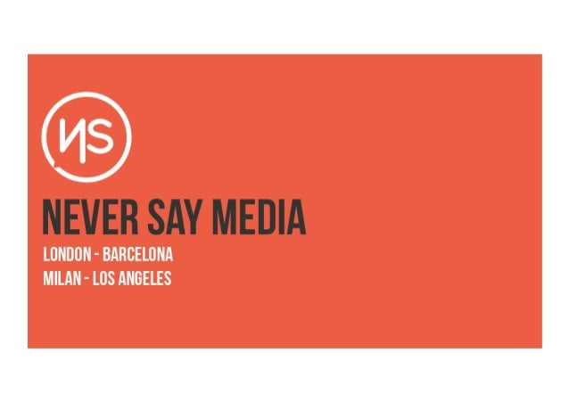 Never Say Media - Video Distribution Services and Prices 2013