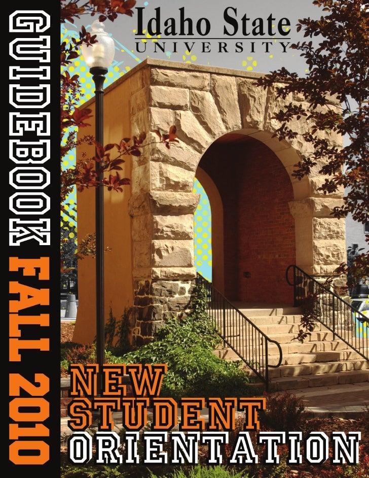 Idaho State University New Student Orientation Guidebook
