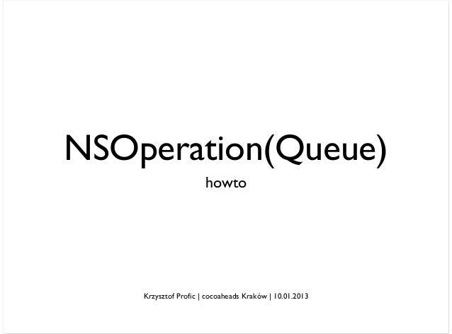NSOperation(Queue)