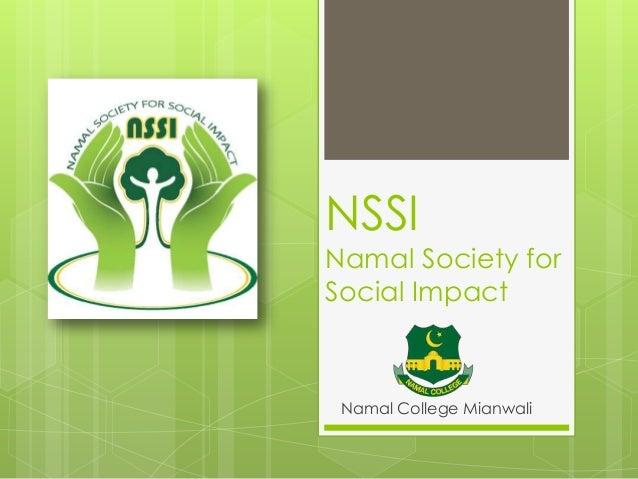 Namal Society for Social Impact,Namal College Mianwali