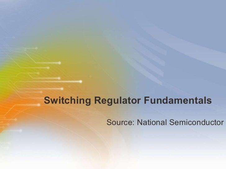 Switching Regulator Fundamentals