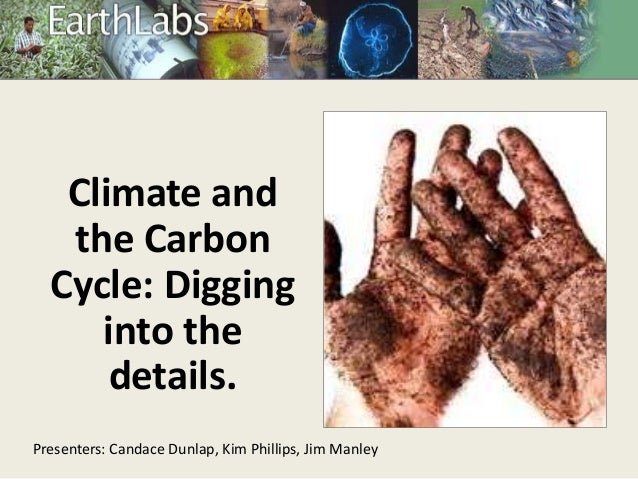 Climate and the Carbon Cycle: Digging into the details. Presenters: Candace Dunlap, Kim Phillips, Jim Manley