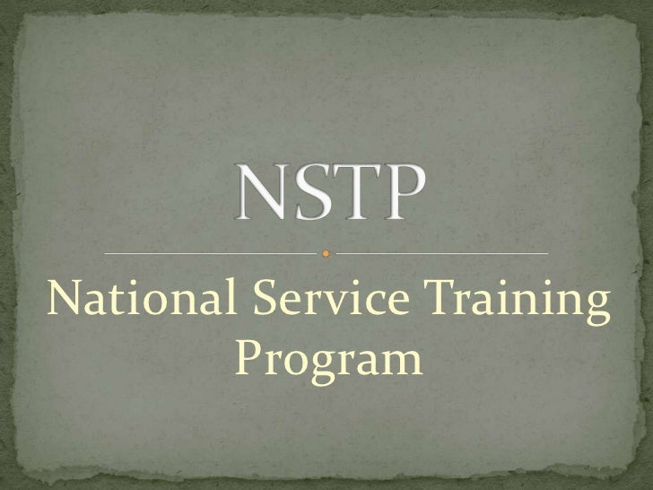 National Service Training        Program