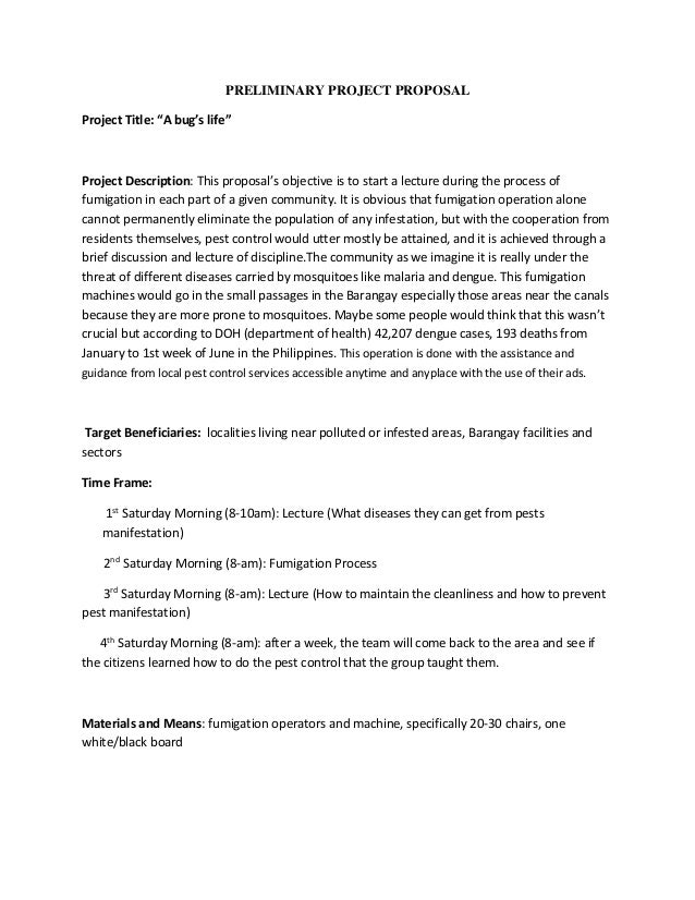 Project Proposal Sample Template Tuyoinvestmentcentre