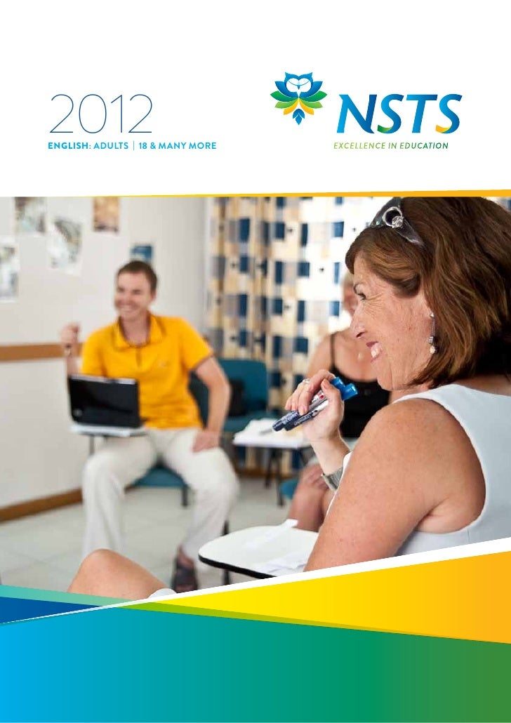 2012ENGLISH: ADULTS | 18 & MAny MORE   EXCELLENCE IN EDUCATION