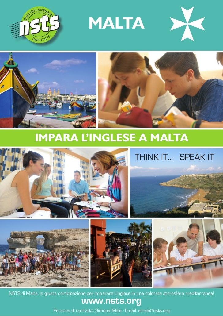 MALTA            IMPARA L'INGLESE A MALTA                                                             ThiNk iT... SPEak iT...