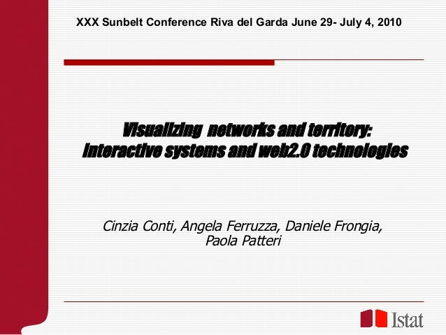 XXX Sunbelt Conference Riva del Garda June 29- July 4, 2010       Visualizing networks and territory: interactive systems ...