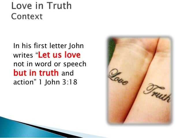 loving in truth Living in truth ministries, lawrenceburg, indiana 409 likes break the chains of food and body-image, love yourself for who you are, and pioneer a.