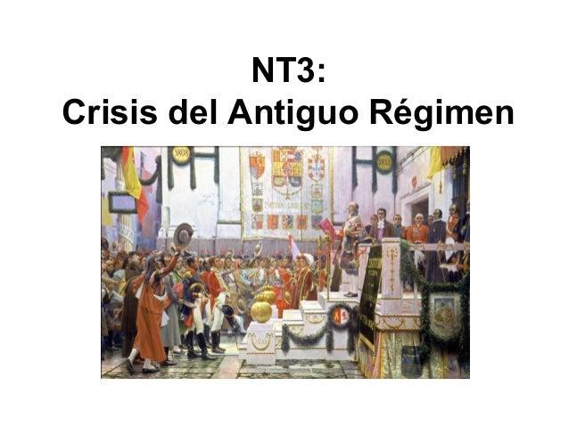 NT3: Crisis del Antiguo Régimen