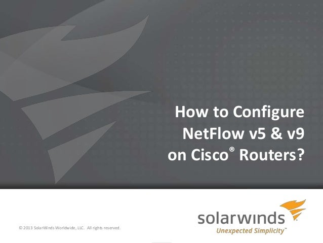 How to Configure NetFlow v5 & v9 on Cisco Routers