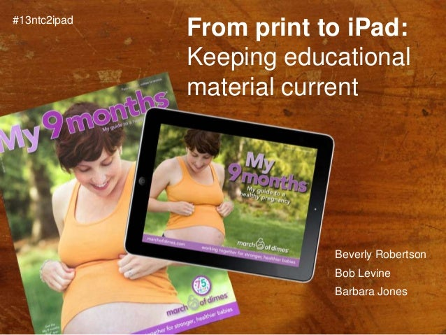 From Print to iPad: Keeping Your Content Current