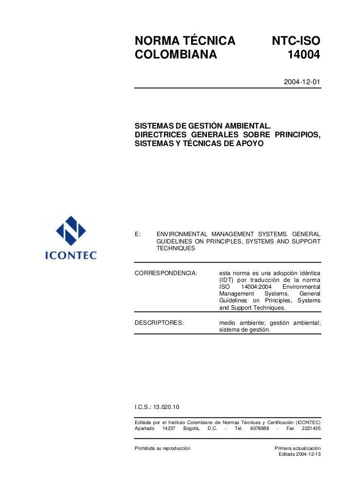 NTC ISO 14004-2004