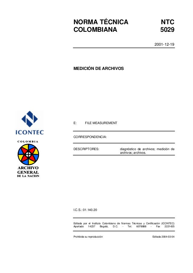 NORMA TÉCNICA                                                        NTCCOLOMBIANA                                        ...