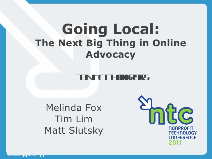 The Next Big Thing in Online Advocacy - Lim