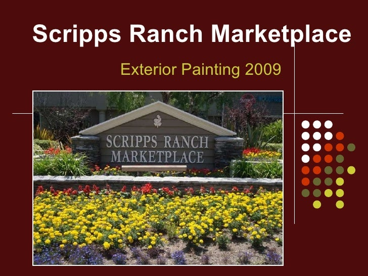 Scripps Ranch Marketplace Exterior Painting 2009