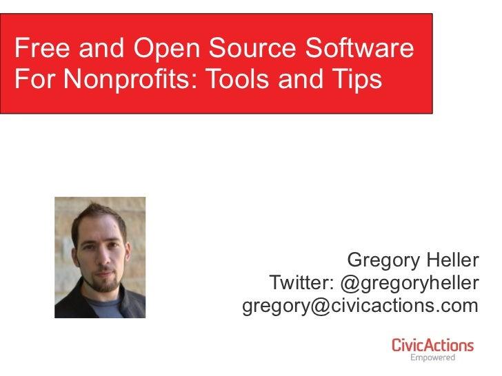 Free & Open Source Software For Nonprofits: NTEN Webinar