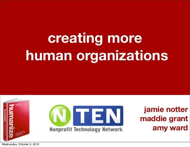 creating more                human organizations                                jamie notter                              ...