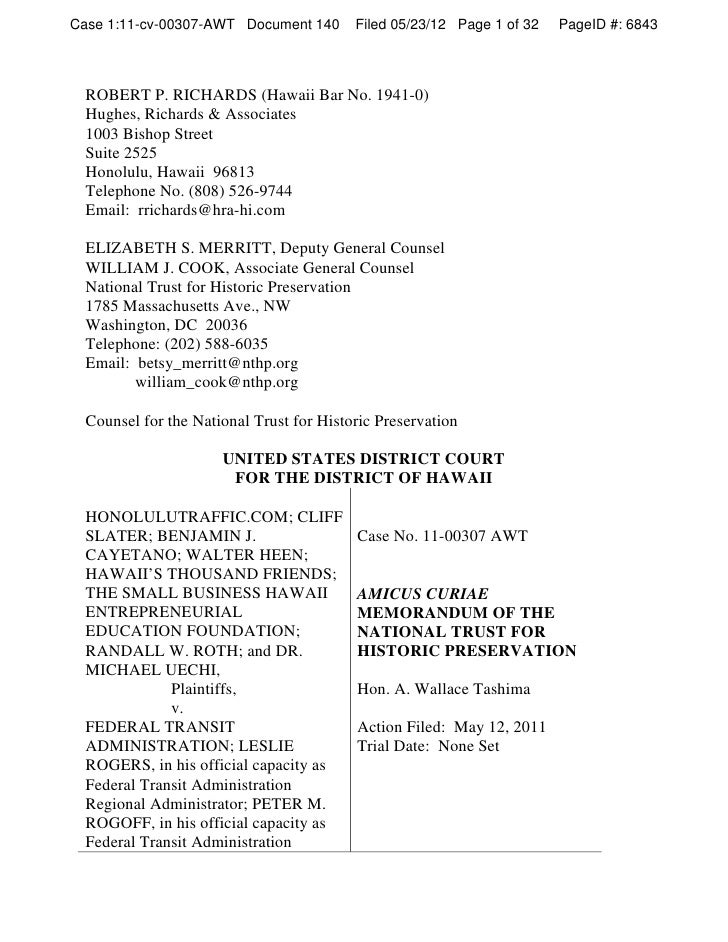 Case 1:11-cv-00307-AWT Document 140       Filed 05/23/12 Page 1 of 32   PageID #: 6843  ROBERT P. RICHARDS (Hawaii Bar No....