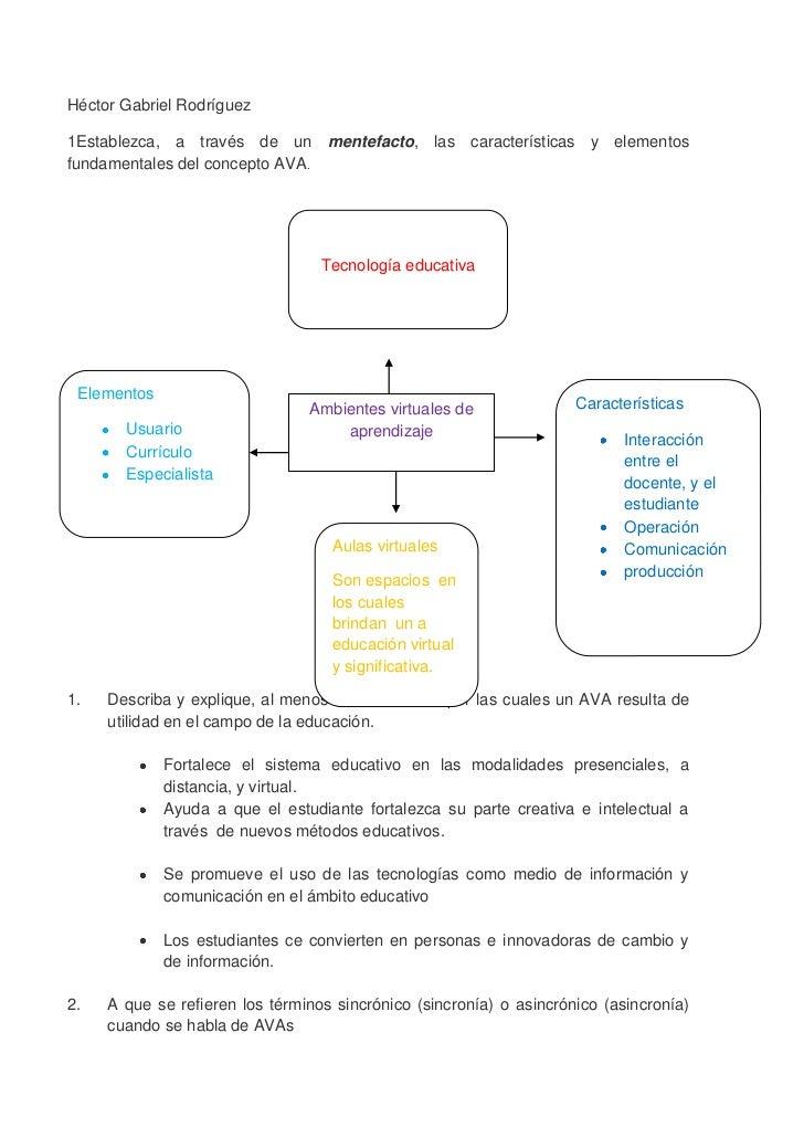 Héctor Gabriel Rodríguez1Establezca, a través de un mentefacto, las características y elementosfundamentales del concepto ...