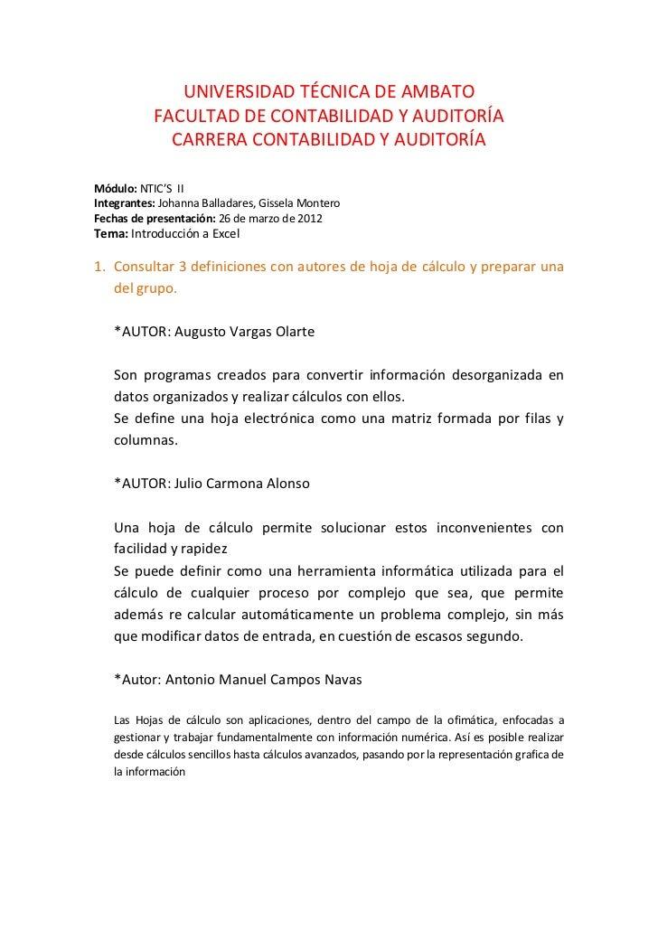UNIVERSIDAD TÉCNICA DE AMBATO           FACULTAD DE CONTABILIDAD Y AUDITORÍA             CARRERA CONTABILIDAD Y AUDITORÍAM...