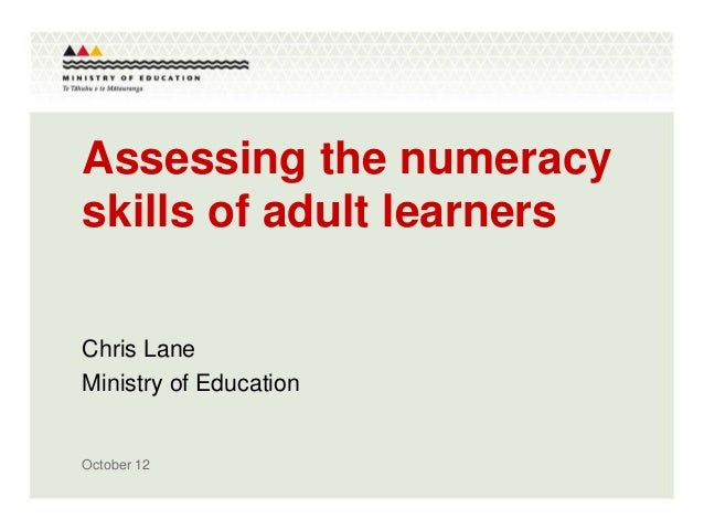NTLT 2012 - Assessing the numeracy skills of tertiary learners