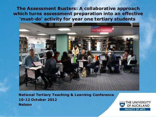 The Assessment Busters: A collaborative approachwhich turns assessment preparation into an effective  'must-do' activity f...