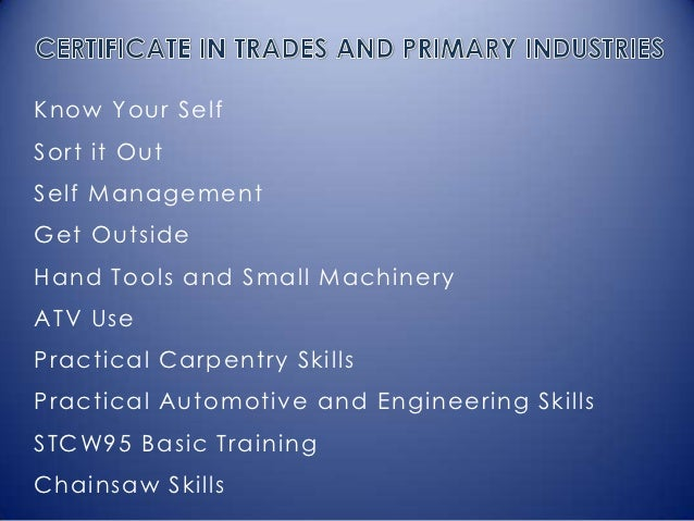 Know Your SelfSort it OutSelf ManagementGet OutsideHand Tools and Small MachineryATV UsePractical Carpentry SkillsPractica...