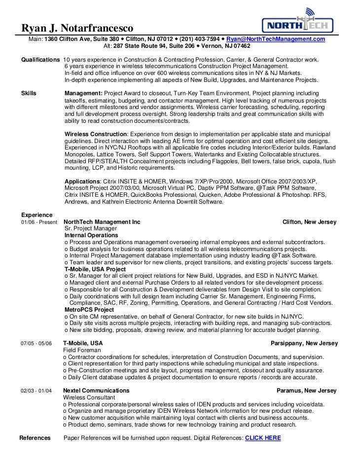 northtech management ryan 39 s resume