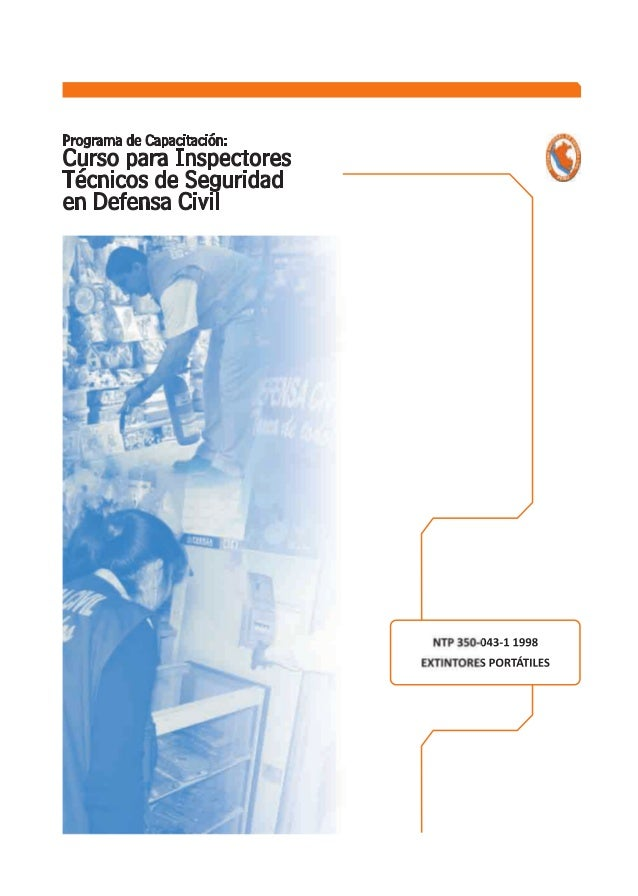 NORMA TÉCNICA NTP 350.043-1  PERUANA 1998  Comisión de Reglamentos Técnicos y Comerciales - INDECOPI  Calle De La Prosa 13...