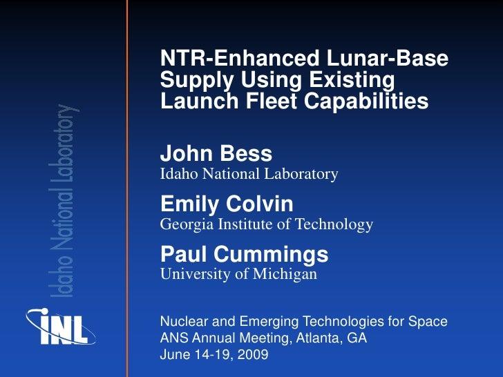 NTR -  NETS 2009