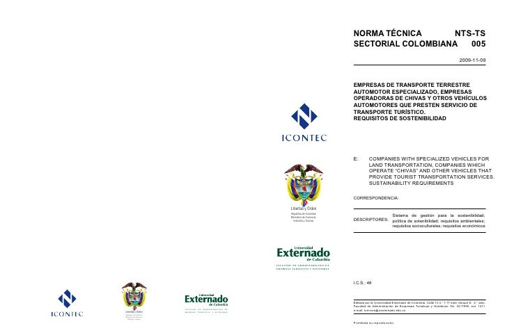 Nts ts005 empresas de transporte terrestre automotor
