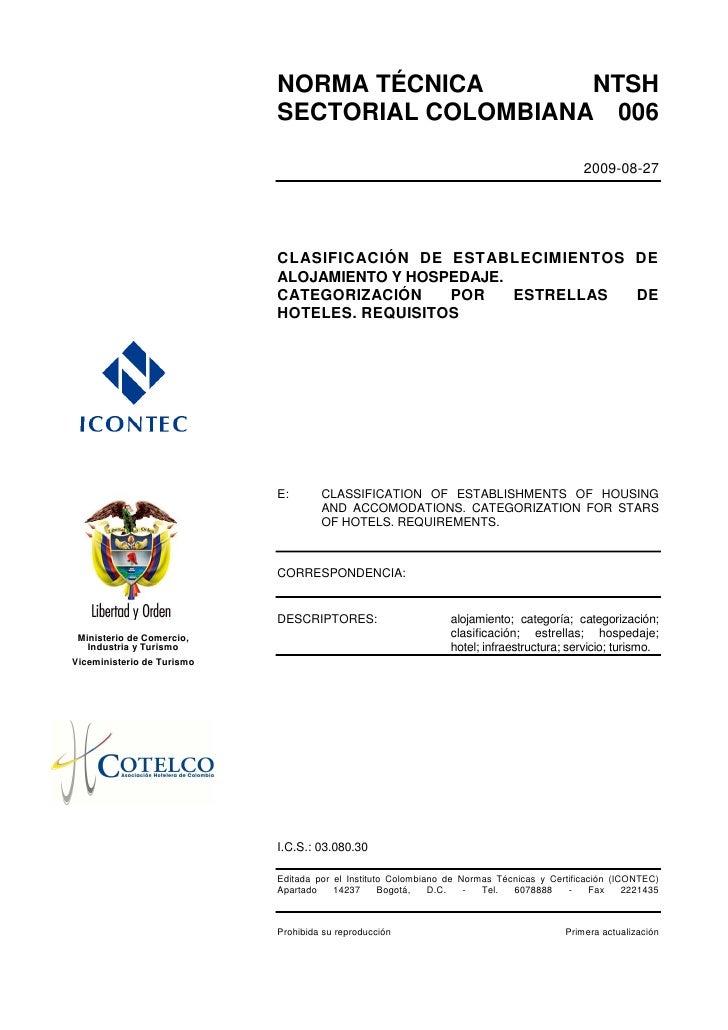 NORMA TECNICA SECTORIAL 006