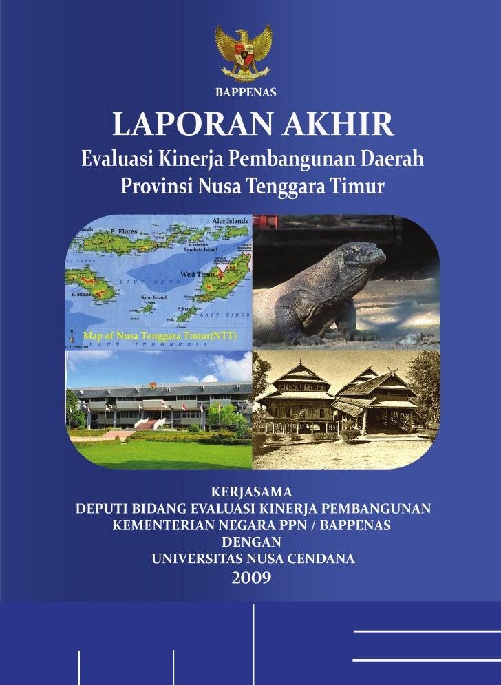 Laporan Akhir EKPD 2009 NTT - UNDANA