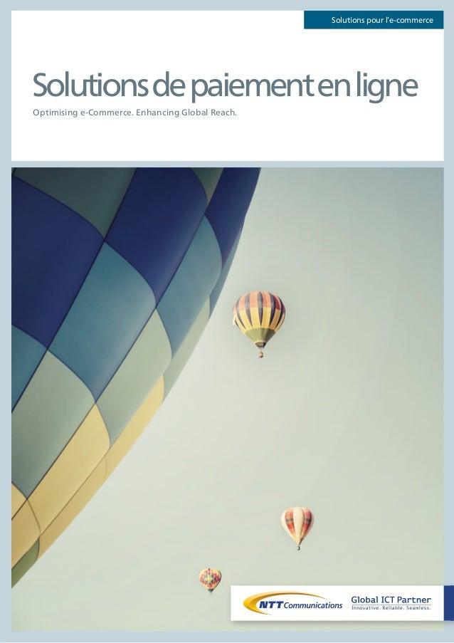Solutions pour l'e-commerce  Solutions de paiement en ligne  Optimising e-Commerce. Enhancing Global Reach.