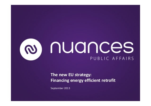The new EU strategy: Financing energy efficient retrofit September 2013