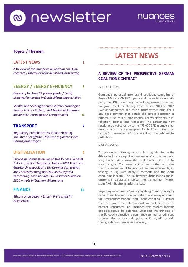 nuances newsletter - December 2013
