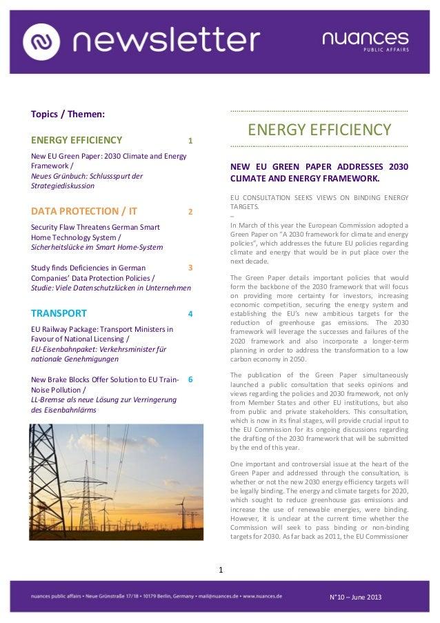 nuances newsletter - June 2013