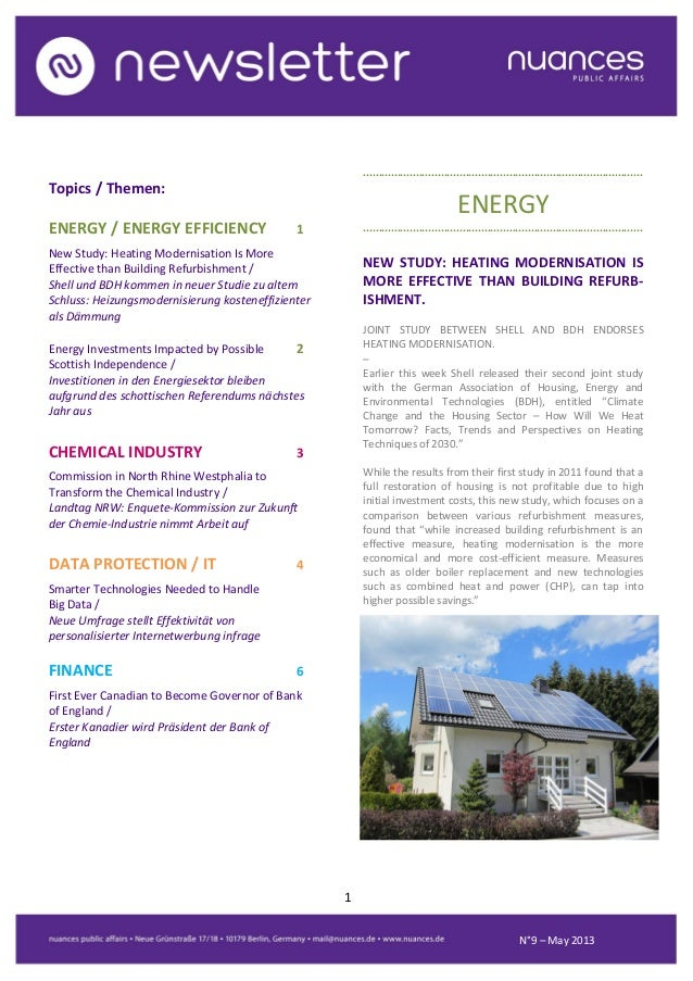 nuances newsletter - May 2013