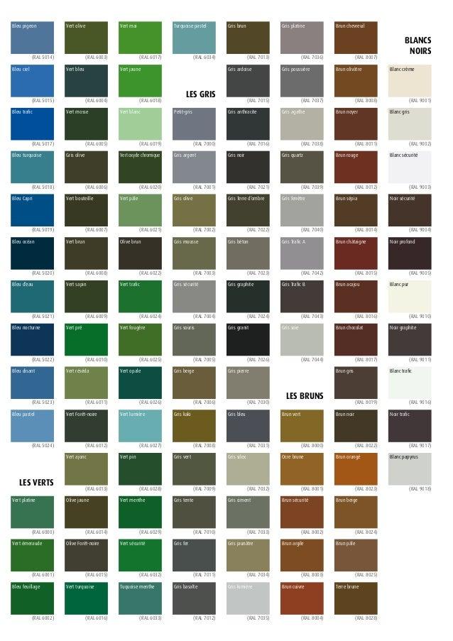 nuancier arc en ciel gauthier cheap top gallery of nuancier seigneurie gauthier avec couleur. Black Bedroom Furniture Sets. Home Design Ideas