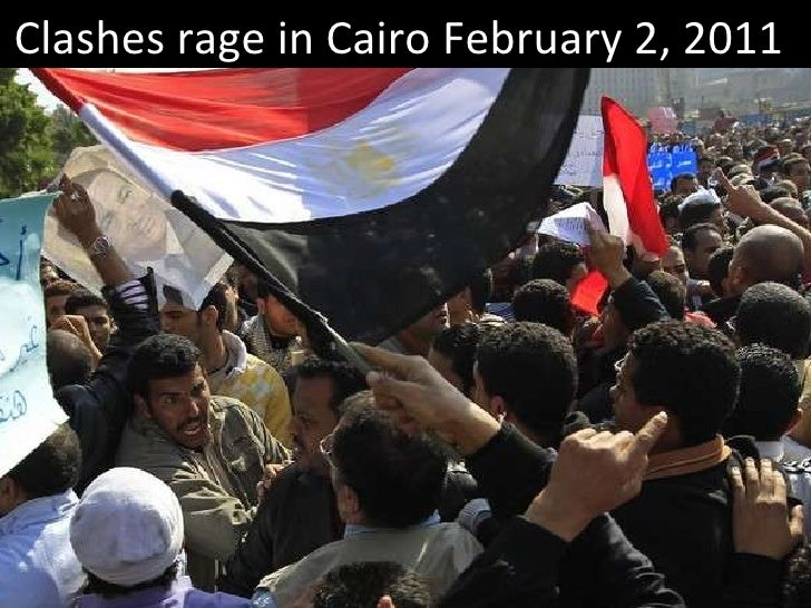 EGYPT : Clashes rage in Cairo-February-2-2011