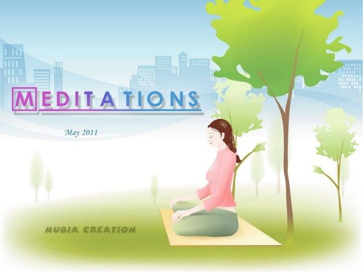 Meditation and Motivation -2011-05-May