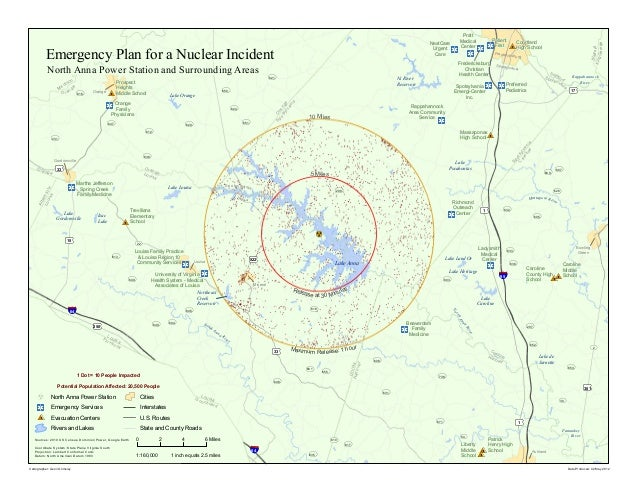 Emergency Plan for a Nuclear Incident: North Anna Power Station and Surrounding Areas