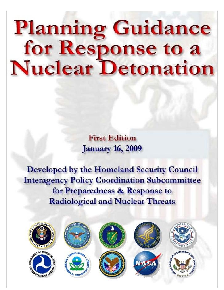 Nuclear Blast Planning Guidance