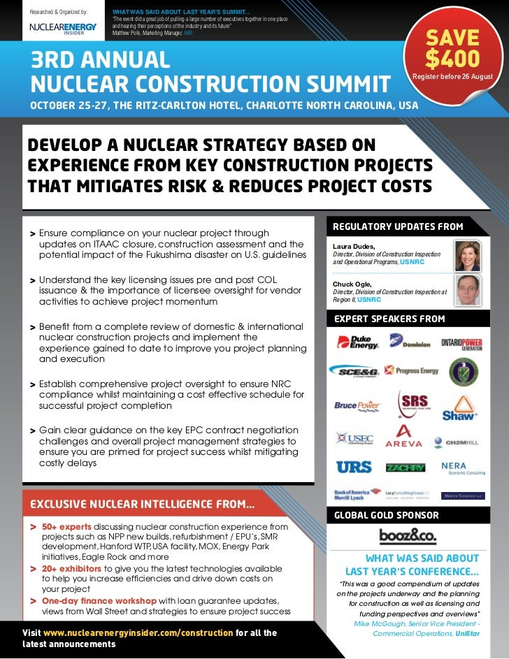 """Researched & Organized by:   WHAT WAS SAID ABOUT LAST YEAR'S SUMMIT...                              """"The event did a great..."""