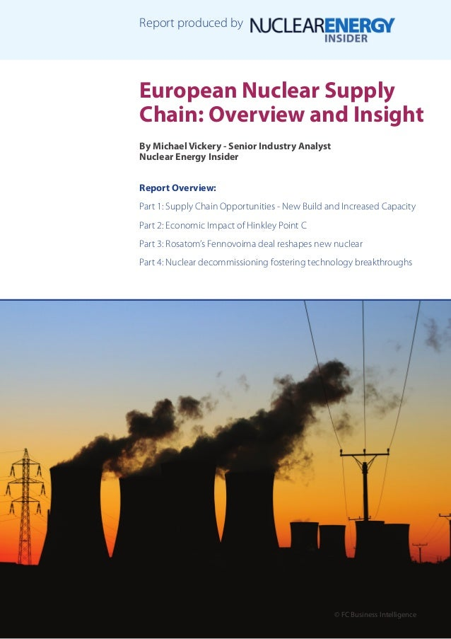 European Nuclear Supply Chain: Overview and Insight By Michael Vickery - Senior Industry Analyst Nuclear Energy Insider Re...