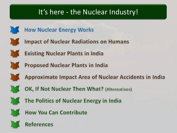Nuclear power & india