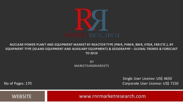 NUCLEAR POWER PLANT AND EQUIPMENT MARKET BY REACTOR TYPE (PWR, PHWR, BWR, HTGR, FBR ETC.), BY EQUIPMENT TYPE (ISLAND EQUIP...