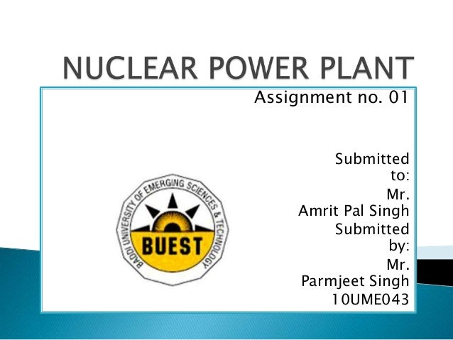 Nuclear power plant parmmax